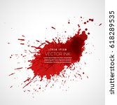red ink splatter vector | Shutterstock .eps vector #618289535
