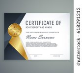 premium certificate of... | Shutterstock .eps vector #618291212