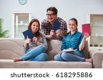 students preparing for... | Shutterstock . vector #618295886