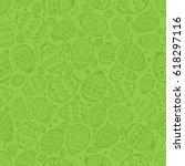 green seamless pattern | Shutterstock .eps vector #618297116