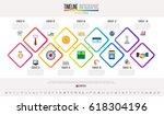 timeline infographics design... | Shutterstock .eps vector #618304196