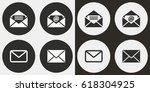 mail vector icons set.... | Shutterstock .eps vector #618304925