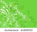 flower decoratively... | Shutterstock .eps vector #61830553