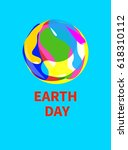 Logo  Icon  Earth Day. Card ...