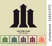 up arrow icon. | Shutterstock .eps vector #618311972