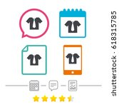 shirt with tie sign icon.... | Shutterstock .eps vector #618315785