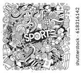 cartoon cute doodles hand drawn ... | Shutterstock .eps vector #618316142