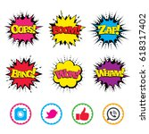 comic wow  oops  boom and wham... | Shutterstock .eps vector #618317402