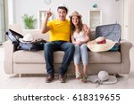 family preparing the vacation... | Shutterstock . vector #618319655