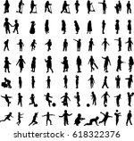 children silhouettes   Shutterstock .eps vector #618322376