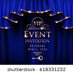 blue vip event invitation card... | Shutterstock .eps vector #618331232