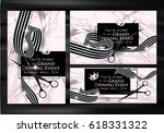 set of grand opening cards with ... | Shutterstock .eps vector #618331322