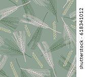cereals seamless pattern.... | Shutterstock .eps vector #618341012