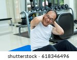 asian adult man smiling and... | Shutterstock . vector #618346496