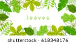 natural banner with stylized... | Shutterstock .eps vector #618348176