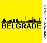welcome to belgrade vector | Shutterstock .eps vector #618349172