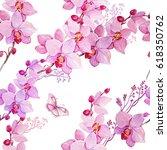 seamless pattern watercolor... | Shutterstock . vector #618350762