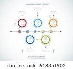 vector infographics timeline... | Shutterstock .eps vector #618351902