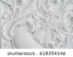 luxury white wall design bas... | Shutterstock . vector #618354146