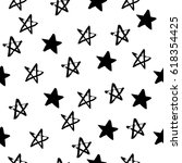 seamless hand drawn star...   Shutterstock .eps vector #618354425