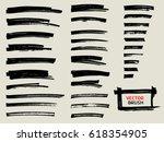 marker brush stroke abstract... | Shutterstock .eps vector #618354905