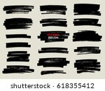 marker brush stroke abstract... | Shutterstock .eps vector #618355412