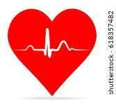 ekg pulse red medic blood... | Shutterstock .eps vector #618357482