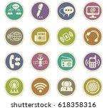 communication vector icons for... | Shutterstock .eps vector #618358316