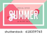summer sale banner design... | Shutterstock .eps vector #618359765