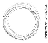 vector abstract circle with... | Shutterstock .eps vector #618360368