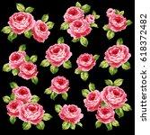 rose flower illustration    Shutterstock .eps vector #618372482