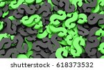 black and green dollar signs... | Shutterstock . vector #618373532
