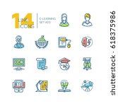 elearning  colored vector... | Shutterstock .eps vector #618375986
