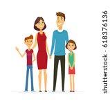 family   coloured vector modern ... | Shutterstock .eps vector #618376136