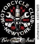 motorcycle poster design...   Shutterstock .eps vector #618376655