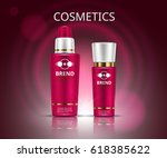 cosmetic set. realistic... | Shutterstock .eps vector #618385622