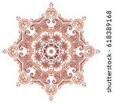 circular floral ornament mehndi....   Shutterstock .eps vector #618389168