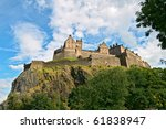 edinburgh castle  scotland ... | Shutterstock . vector #61838947