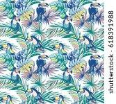 seamless pattern of ink hand... | Shutterstock . vector #618391988