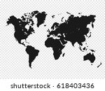 black world map silhouette on