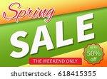 sale spring  | Shutterstock .eps vector #618415355