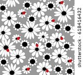 seamless floral pattern with a... | Shutterstock . vector #618416432