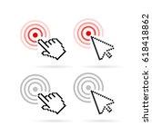 click cursor vector icon on... | Shutterstock .eps vector #618418862