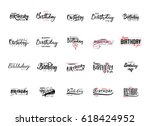 lettering and calligraphy... | Shutterstock .eps vector #618424952
