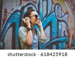Young Woman Listening To Music...