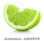 Ripe Wedge Of Green Lime Citru...