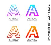letter a with arrow  finance ... | Shutterstock .eps vector #618455162