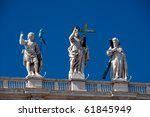 Rome Angel statue - stock photo