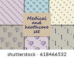 vector doodle seamless paterns. ... | Shutterstock .eps vector #618466532