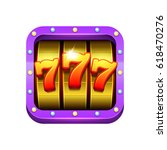 slot machine illustration.... | Shutterstock .eps vector #618470276